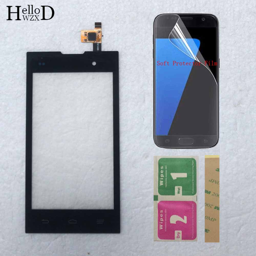 4.0'' Mobile Touch Screen For ZTE Kis 2 Max V815 V815W Touch Front Glass Sensor Touch Panel Digitizer Touchscreen Protector Film