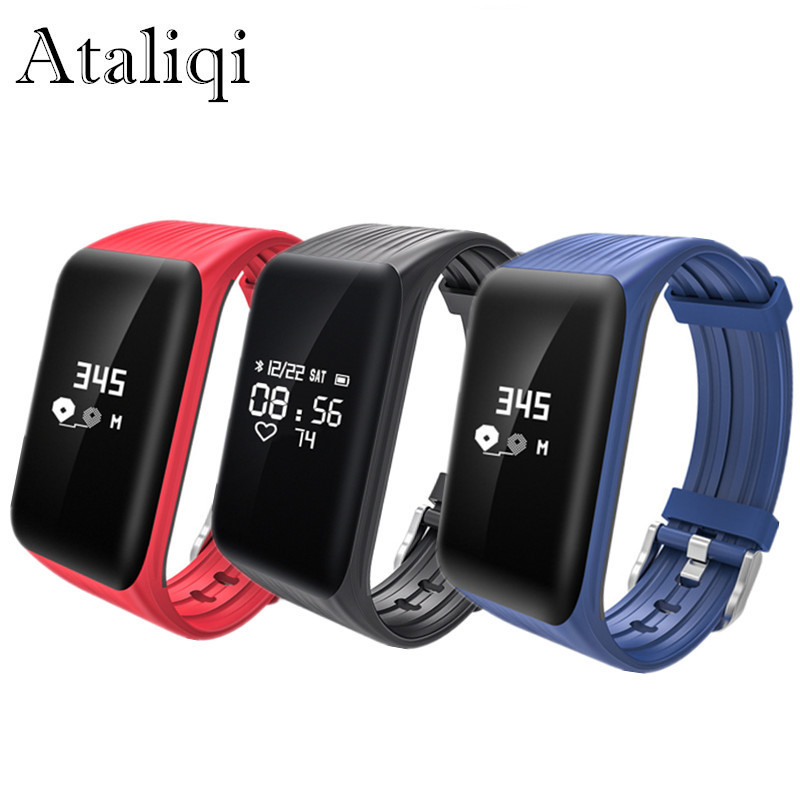 Waterproof K1 Smart Bracelet Real-time Heart Rate Monitor Wristband Watch Activity Fitness Tracker Band for Xiaomi Huawei Phone