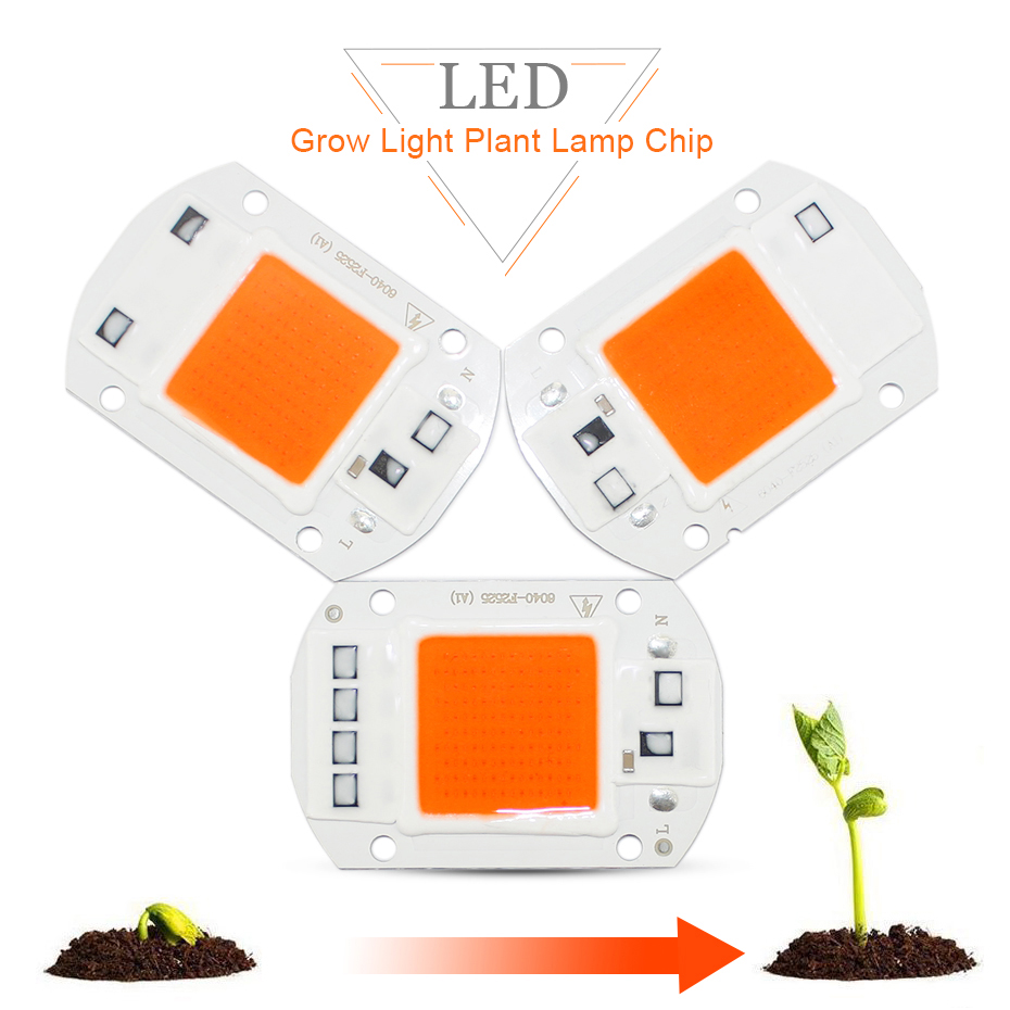 Grow Light Chip  20W/30W/50W  Full Spectrum 1500LM 2200LM 4000LM  LED Lamp Grow Light Floodlight Indoor Plant Grow & Flower