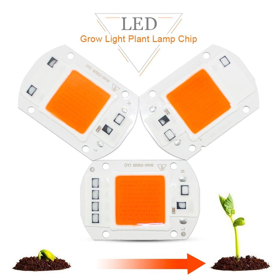 Grow Light Chip  20W/30W/50W  Full Spectrum 1500LM 2200LM 4000LM  LED Lamp Grow Light Floodlight Indoor Plant Grow & Flower