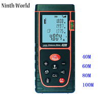Big discount Ninth World Digital Laser Measure Measure Meter Handheld Bubble Level Rangefinder Range Finder Tape LCD with Backlight Measur