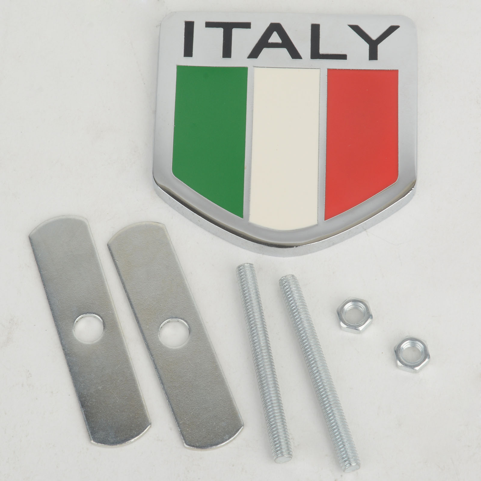 Metal Italy Italian Flag Car Auto Front Grill Grille Emblem Badge Sticker Decal