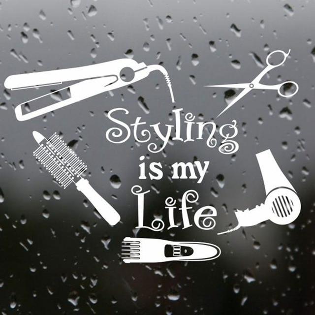 Us 1119 30 Offsalon Fryzjerski Stylizacja Włosów Jest Moje życie Vinyl Kalkomania Naklejka Nazwa Włosów Fryzjer Plakaty Winylowe Naklejki ścienne