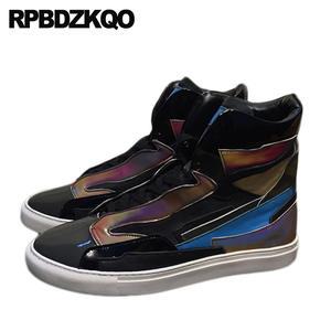 15ebb0ef1428 RPBDZKQO Patent Leather Luxury Sneakers Designer Shoes Men