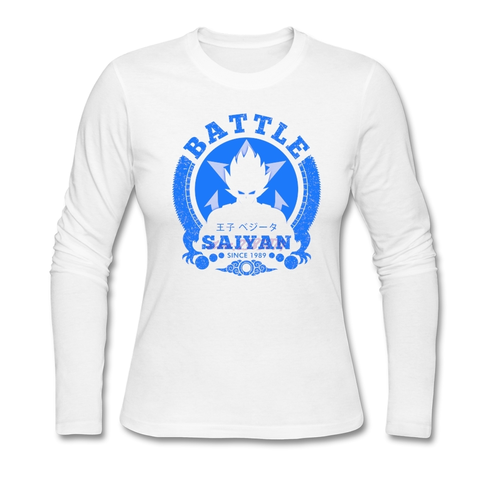 Design your own eco-friendly t-shirt - Woman Crewneck Winter Shirts Women Popular Battle Prince 100 Cotton Full Sleeves Design Your Own T Shirt