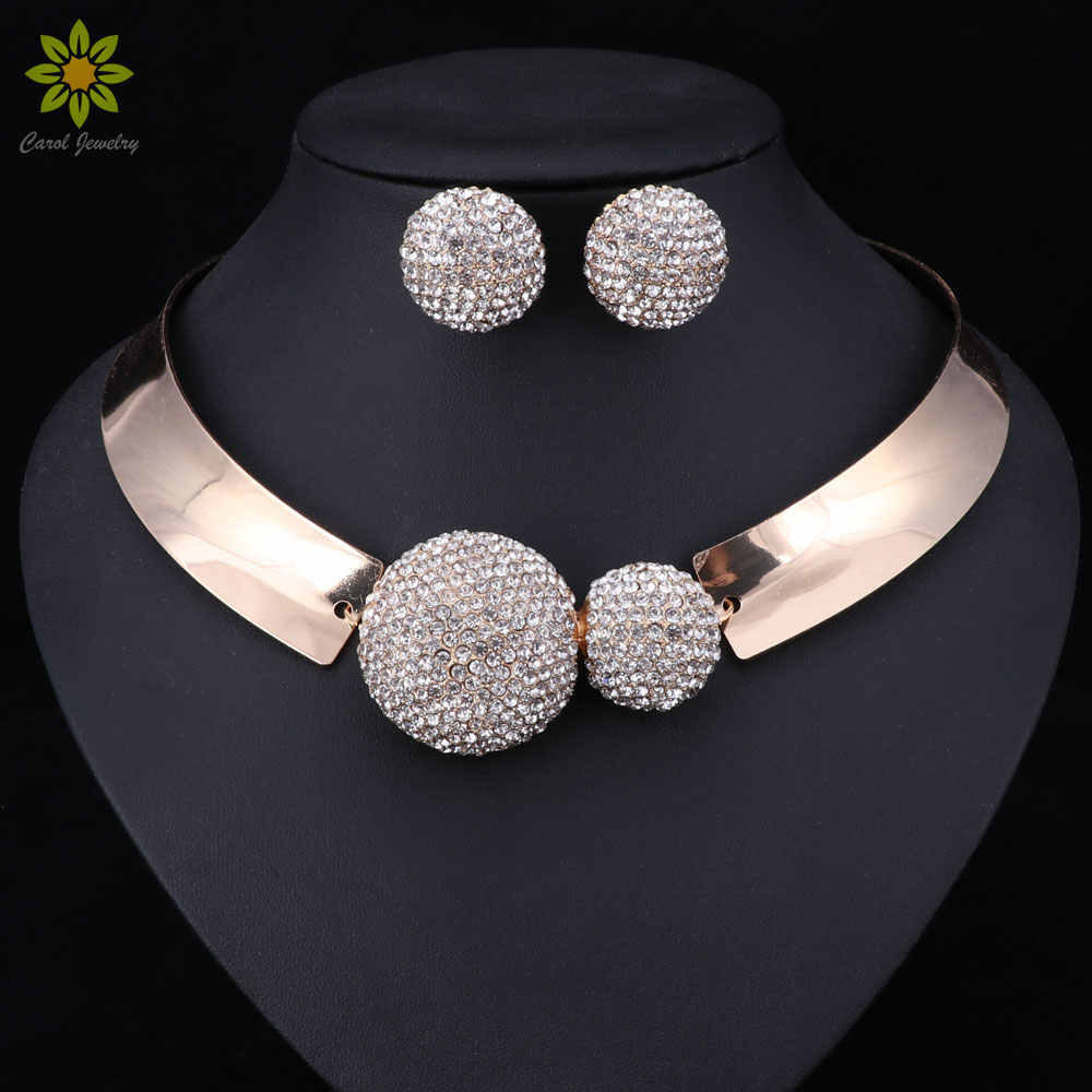 Dubai Bridal Jewelry Sets For Women Wedding African Beads Indian Nigerian Beads Fashion Luxury Trendy Vintage Costume