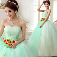 High Quality Ball Gown Quinceanera Dresses Sweetheart Beaded Bodice Aqua Green Party Gowns Custom