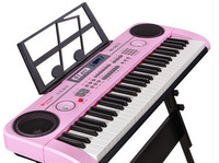 2017Electronic piano children piano toys 61 keys with a microphone girl baby first school music toys 1 3 6 12 years old