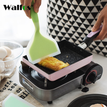 WALFOS Silica gel Japanese Tamagoyaki Omelette Pan Turners Temperature-resistant Silicone Spatula Turners page turners 4 trust