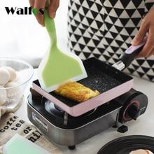 WALFOS Silica gel Japanese Tamagoyaki Omelette Pan Turners Temperature-resistant Silicone Spatula