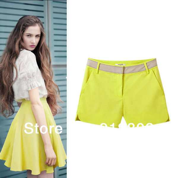 Jumpsuit Mid Waist Slim 2014 Women's Stylish Brand Shirt Shorts, Ladies Summer Fashion Hip Pants Casual Blouses & Trousers