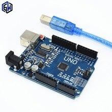 TENSTAR РОБОТ ООН R3 MEGA328P CH340G для Arduino UNO R3 + КАБЕЛЬ USB