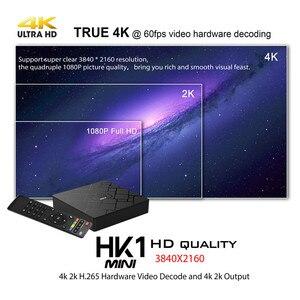 Image 4 - מקורי HK1 מיני אנדרואיד 9.0 טלוויזיה תיבת חכם 4K RK3229 Quad Core 2GB 16GB H.265 WiFi מדיה נגן HK1mini נטפליקס סט top box