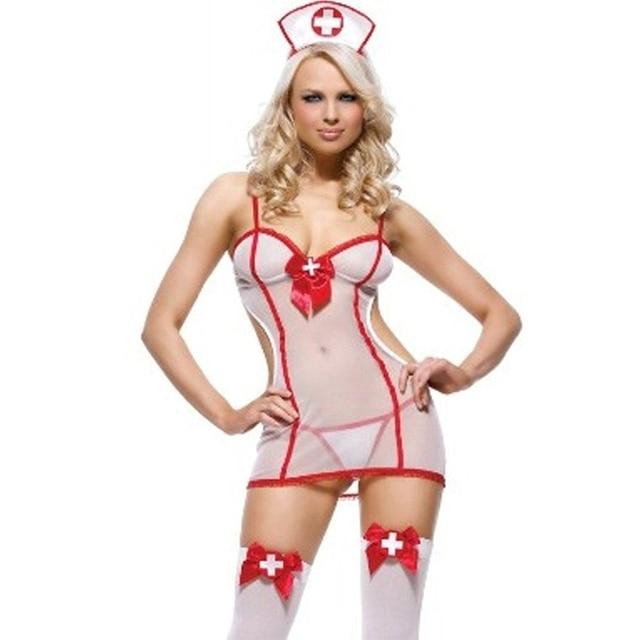 7c79aa3d76189a Seksowny strój nieśmiały trochę pielęgniarka kostium pielęgniarki  nightshift dress up biały kostium fancy dress wieczór panieński