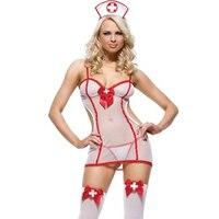 Sexy outfit verlegen kleine verpleegster kostuum nightshift verpleegkundige dress up kostuum wit fancy dress vrijgezellenfeest w292927