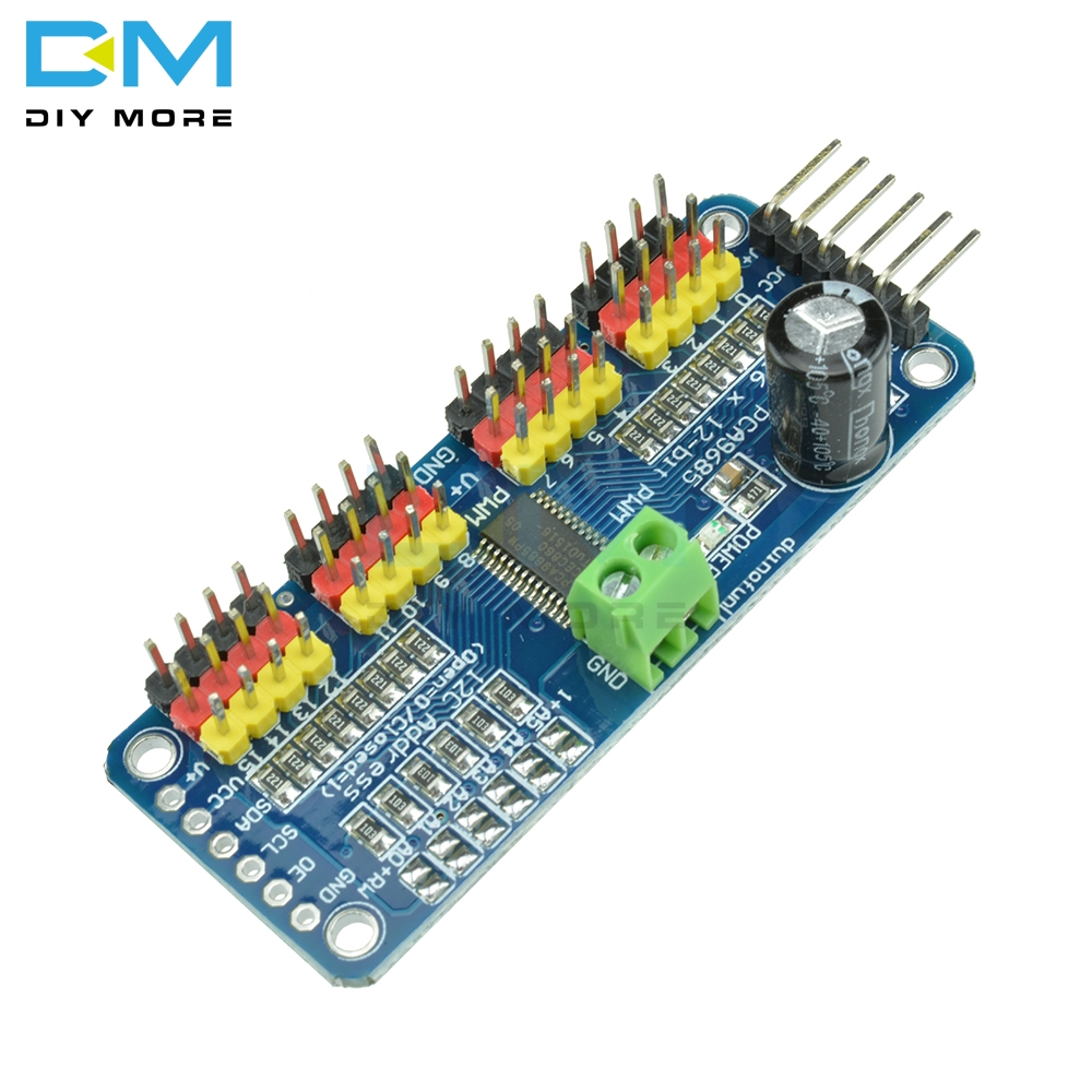 PCA9685 16CH 16 Channel 12-bit PWM Servo Driver I2C IIC Interface Shield Board Module For Raspberry Pi Servo Shield For Arduino