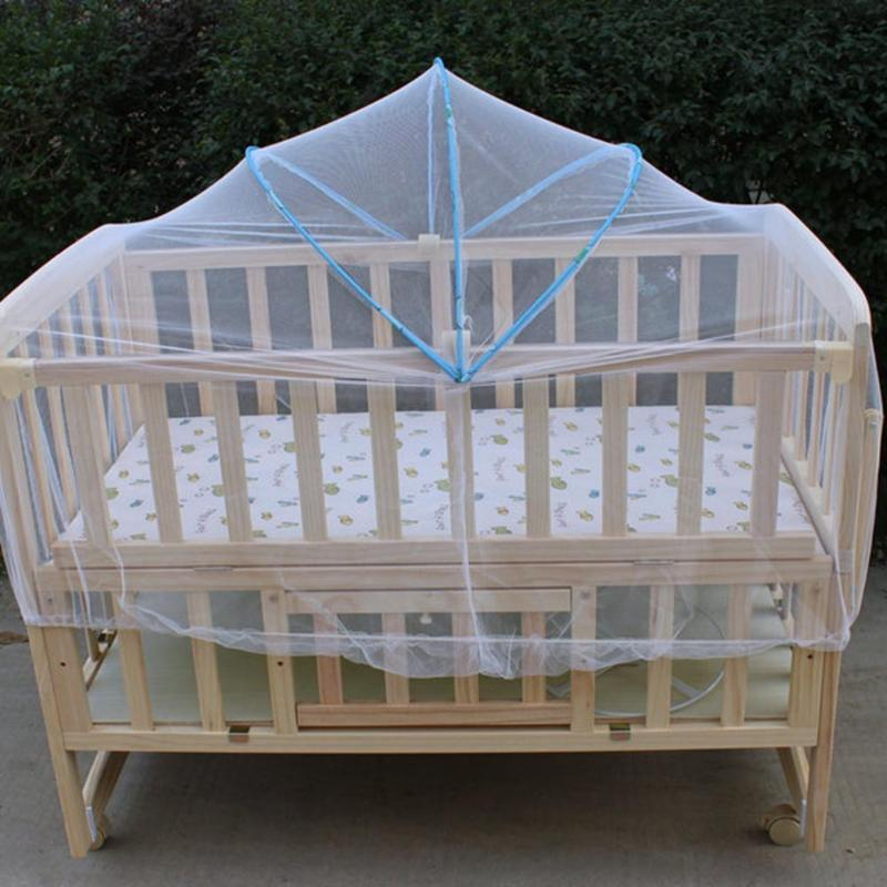 Baby Bed Crib Folding Arched Yurt Crib Mosquito Netting Mosquito Net Pushchair Curtain Full Cover Infants Baby Bedding Crib