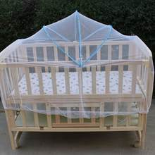 Baby Bed Crib Folding Arched Yurt Crib Mosquito Netting Mosquito Net Pushchair Curtain Full Cover Infants Baby Bedding Crib(China)