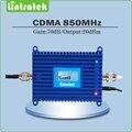 FDD Banda 5 CDMA 850 mhz 70dB amplificador de sinal cdma repetidor de sinal GSM 850 mhz mobile phone signal booster com LCD exibição