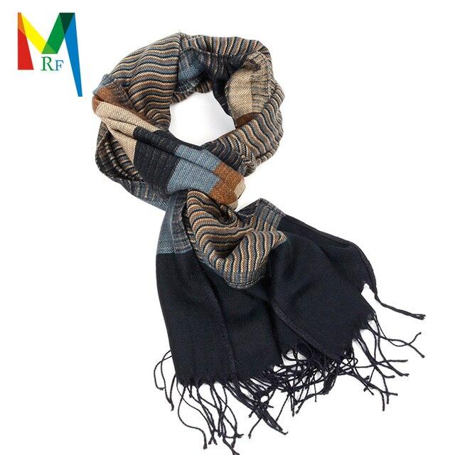 Surtido de colores a rayas bufanda para el hombre reversible AB side viscosa bufanda de las borlas bufandas largas envío gratis