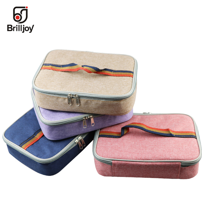 92e121a5c Brilljoy ice cooler box thermal bag hand bag kids lunch bag aluminum foil  insulated thermal insulin cooler bag lunch box ice pac-in Lunch Bags from  Luggage ...