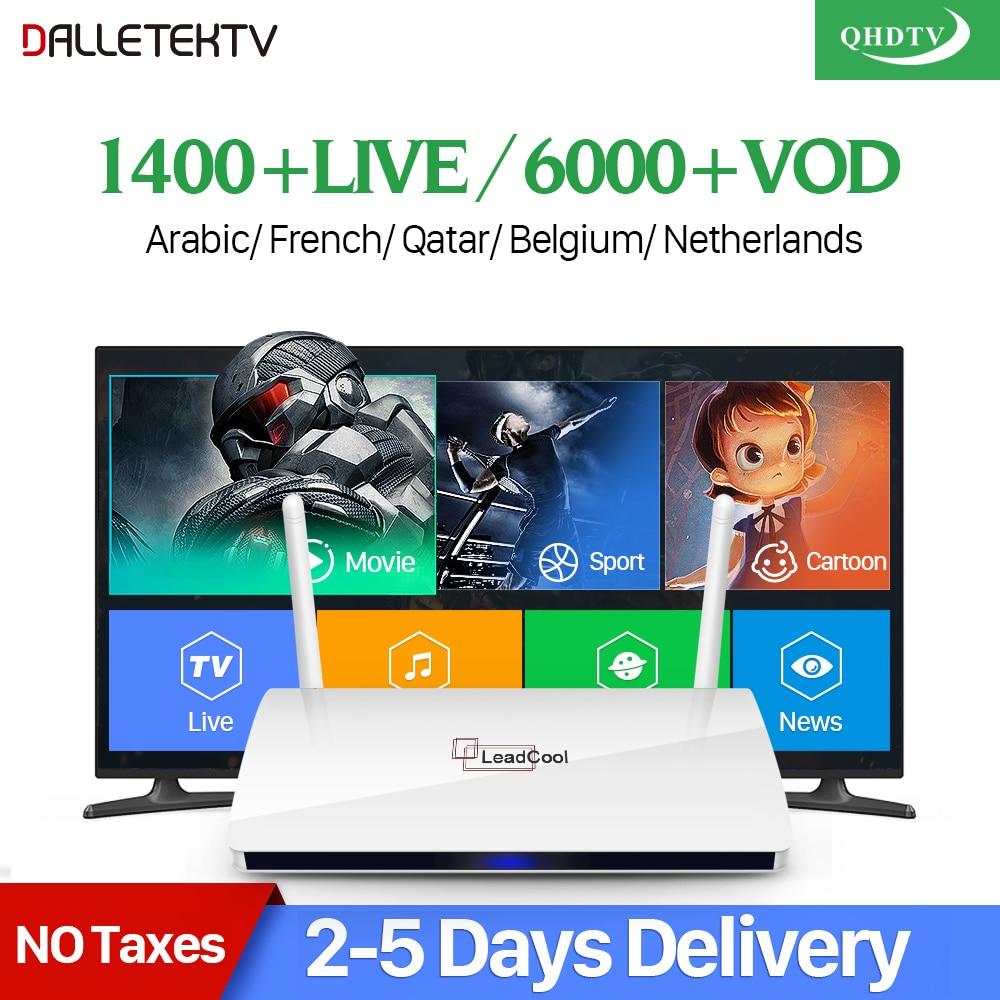 Leadcool QHDTV IPTV Box French Arabic IPTV 1 Year Code Smart Android UK Italia Spain France Belgium Arabic IPTV Top Box belgium culture smart