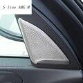 Автомобильный Стайлинг Дверь аудио динамик Декоративные Чехлы наклейки отделка для BMW X5 G05 2019 Нержавеющая сталь Авто аксессуары для интерье...