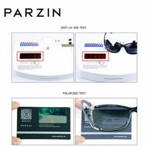 Image 5 - PARZIN gafas de sol polarizadas para mujer, anteojos de sol femeninos de lujo, estilo Vintage, color negro, con embalaje PZ18