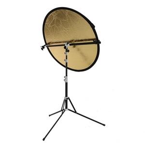 Image 3 - Soporte de soporte Reflector 2 en 1, brazo de soporte con trípode plegable portátil de 210cm soporte de luz para Flash de estudio Reflector Speedlide