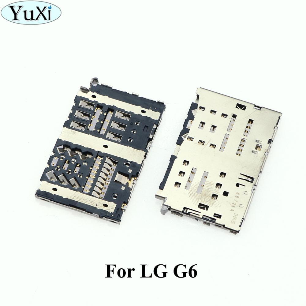 YuXi Sim Card Reader Slot Tray Module Holder Connector For LG G6 H870 H870DS LS993 VS988 H872 Socket 2019