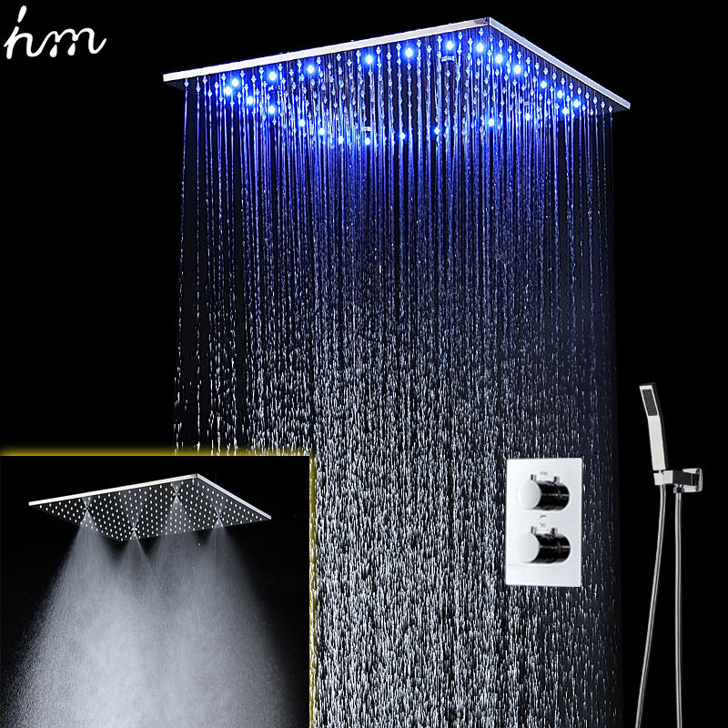 modern shower faucets 20 inch rain and mist massage shower panel luxury rain shower system
