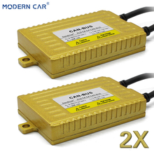 цена на MODERN CAR 2pcs Hid Xenon Ballast 35W Gold Block Ignition Electronic Ballast 12V For Benz Volkswagen BMW Audi Ford Toyota Nissan