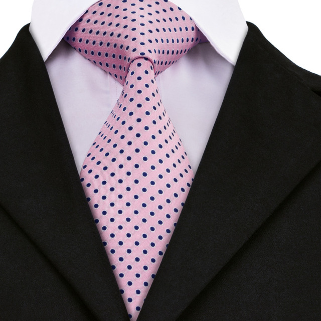 4e17669b8489 A-1482 New Hot Pink Wedding Tie Classic Polka Dot Ties for Men Quality  Handmade Silk Hi-Tie Design for Mens Wedding Groom Party