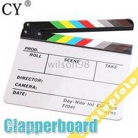29.8 센치메터 x 24.8 센치메터 고품질 했 보드 다채로운 Clapperboard입니다 아크릴 영화 액션 슬레이트 필름 액션 Clapperboard입니