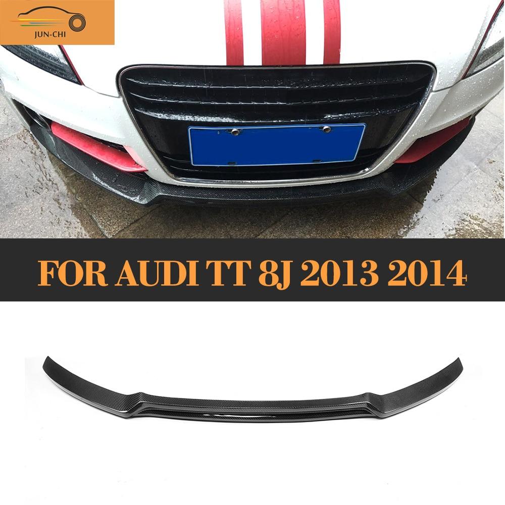 Ön Tampon Difüzör Dudak Karbon Fiber Audi TT 8J Için 2Door Çift - Araba Parçaları - Fotoğraf 1