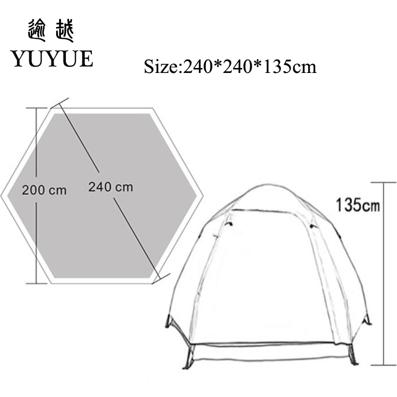 Ultraviolet-proof Tents Outdoor Camping Outdoor Sunscreen Beach Tent Benefit For Ventilation  Big Space Family Camping Tent  5