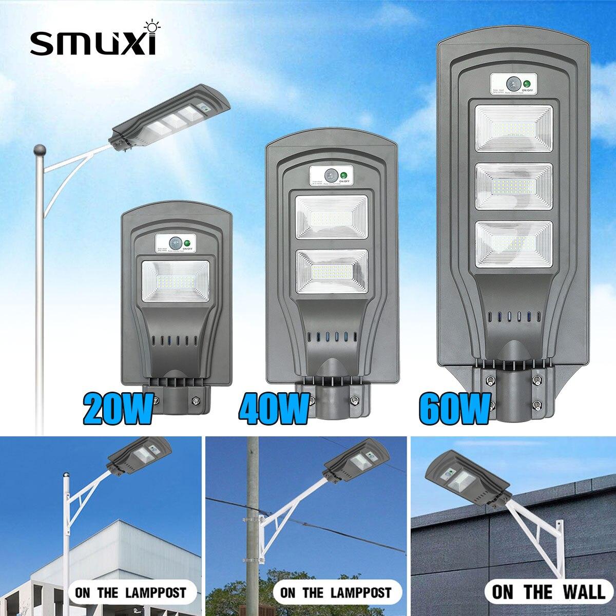 LED Solar Straße licht LED Wand Lampe 20 W/40 W/60 W Motion Sensor Wasserdichte Sicherheit Lampe für Garten Hof уличное освещение