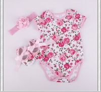 2016 3pcs 0 12 Months Newborn New Born Baby Rompers Girl Dress Sleeveless Jumpsuit Outfits Clothes