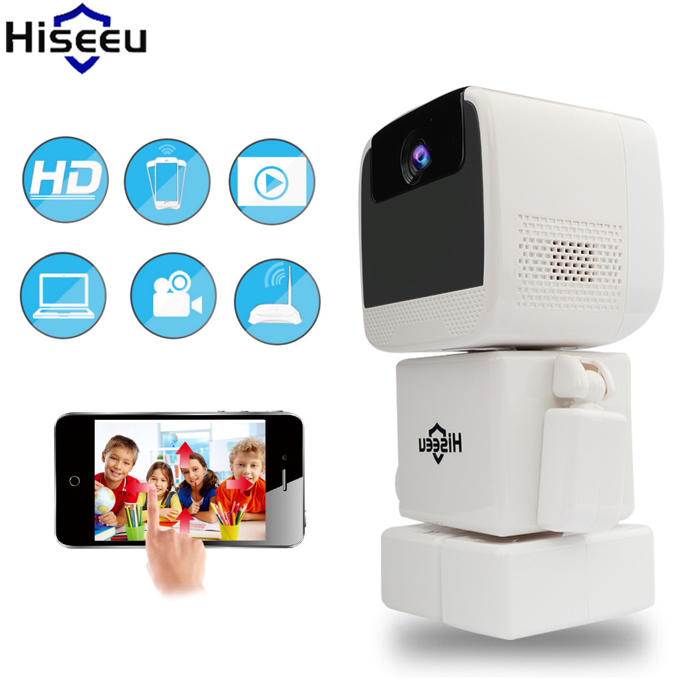 где купить Hiseeu Robot Camera Wireless 960P IP Camera WIFI CCTV HD Night Vision Security Camera Two Way Audio Endoscope Dropshipping по лучшей цене