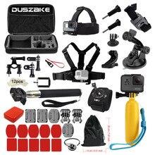 Accessories Set kit For Gopro Hero 5 4 Head Chest Harness Mount Strap Monopod Floating Selfie Stick for SJCAM Eken H9 Camera