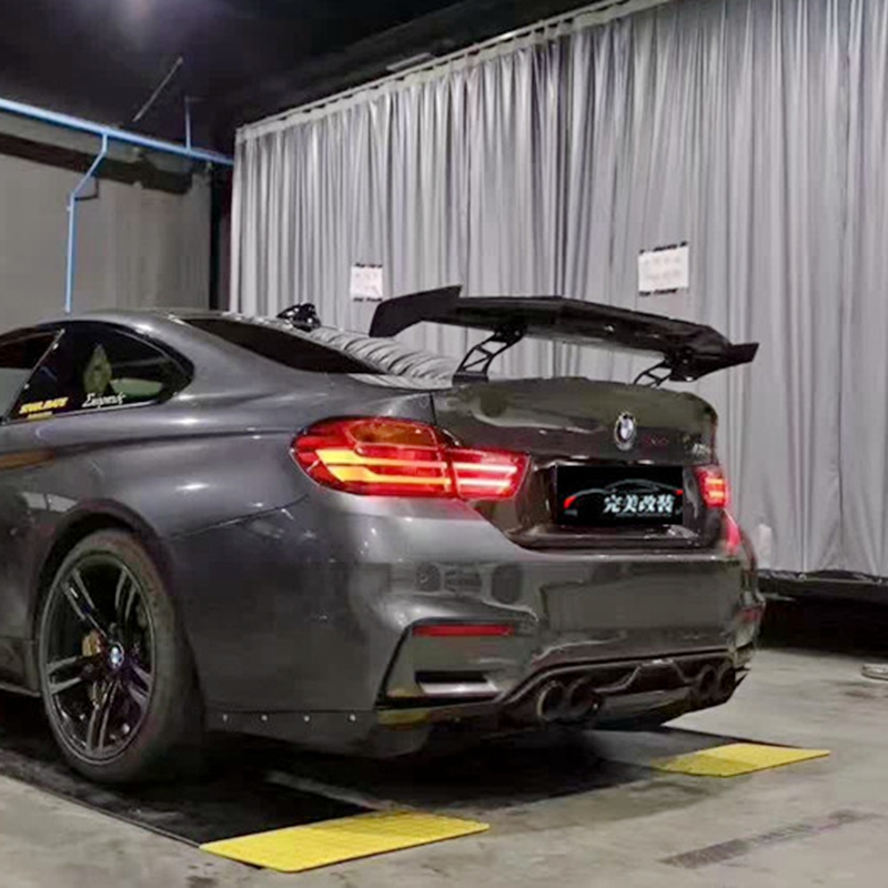 Car Styling Exterior Carbon Fiber Modified Rear <font><b>Spoiler</b></font> Tail Trunk Lip Wing Decoration Fit For <font><b>BMW</b></font> M1 M3 M4 M5 M6 MAD <font><b>GT</b></font> <font><b>Spoiler</b></font> image