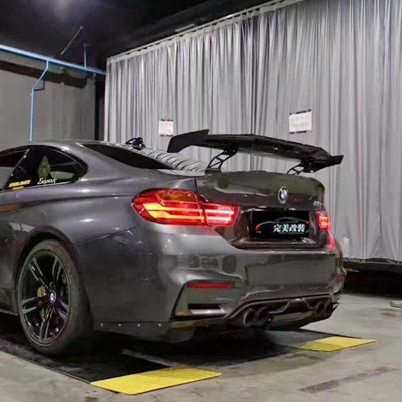Styling auto In Fibra di Carbonio Esterno Modificato Posteriore Spoiler Posteriore Tronco Labbro Ala decorazione Fit For BMW M1 M3 M4 M5 M6 MAD GT Spoiler