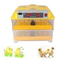 Meilleur prix en plastique 96 numérique oeufs de poule incubateur contrôle de température automatique incubateur tournant couveuse d'incubation