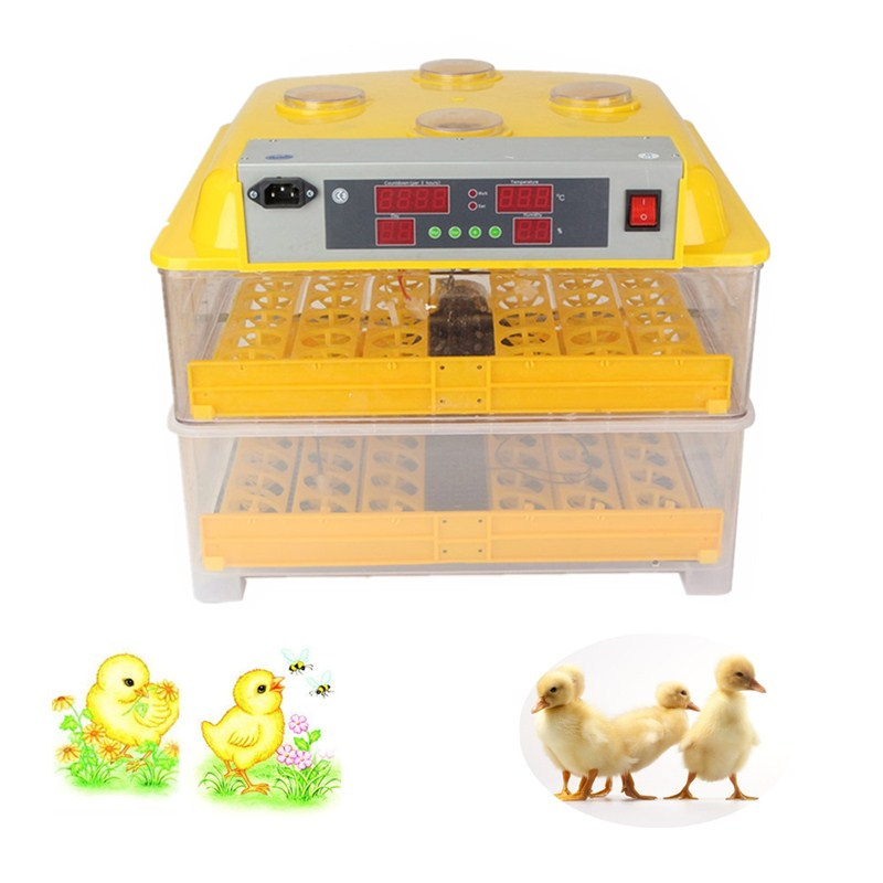 Best Price Plastic 96 Digital Chicken Eggs Incubator Temperature Control Automatic Incubator Turning Hatcher Incubation