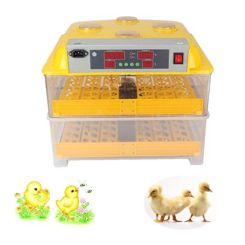Melhor Preço de Plástico 96 Digital Controle de Temperatura de Incubação Nascedouro Incubadora de Viragem Automática Incubadora de Ovos de Galinha