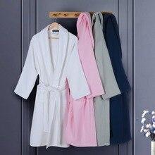 Хлопок barhrobe мужские XL бренд полотенец махровые пижамы женские зимние Утепленные белые мужские банный халат платье Home Hotel Теплый