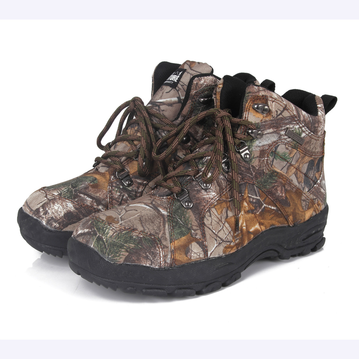 600D Oxford Cloth Outdoor Camouflage Waterproof Hunting Boots Men Sports Hiking Camping Shooting Antiskid Combat Tactical Shoes