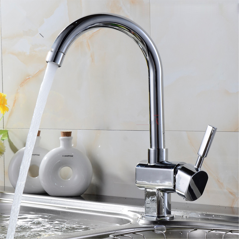 kitchen faucets cheap polished chrome cheap brass kitchen faucet with single lever hot cold kitchen sink faucet 2122