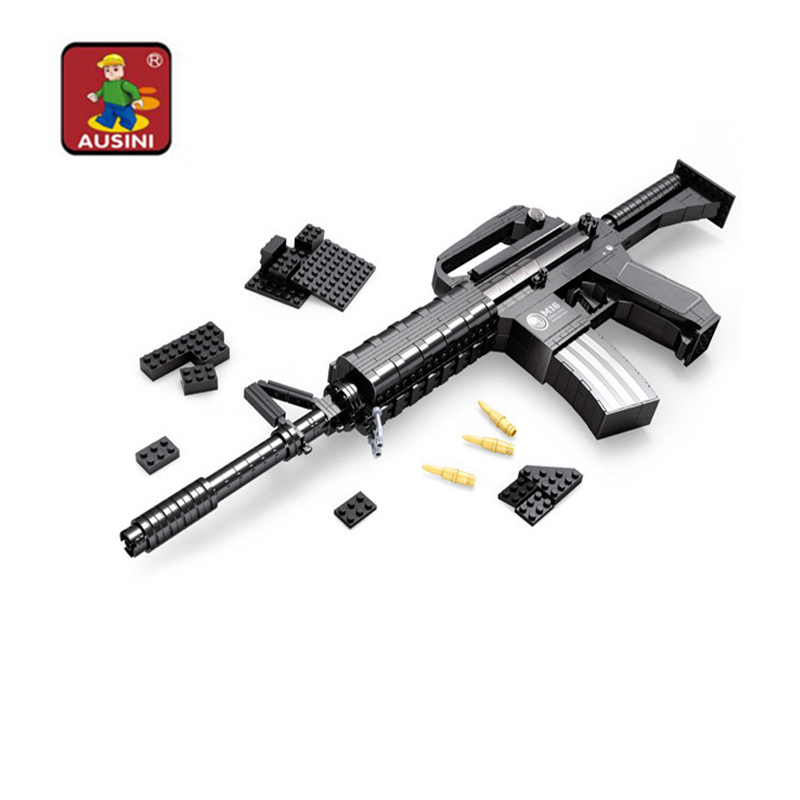 Ausini 524 Pcs Building Blocks Guns Model Building Toys Bricks Gun Series M16 Childrens Educational Toy Gift