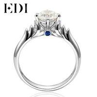 EDI Angel Swan 0.8CT Round Cut Moissanite Diamond 14K 585 White Gold Wedding Engagement Ring For Women Jewelry